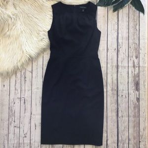 BANANA REPUBLIC black wool sheath dress size 0